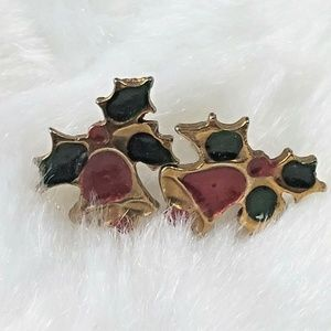 Jewelry - 5/$25 Vtg 90s Style Christmas Holly Berry Earrings